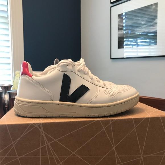 Veja V-10 WMN White Nautico Sneaker Schuhe